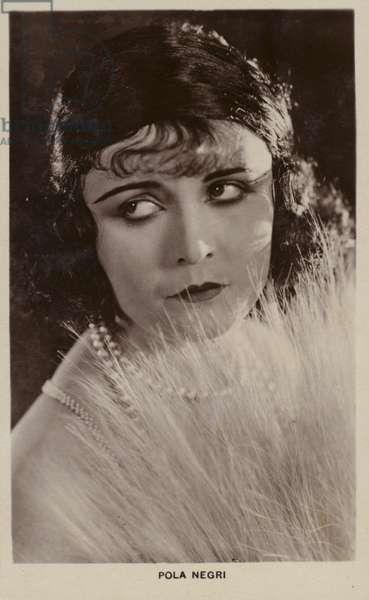 Pola Negri, Polish stage and film actress (b/w photo)