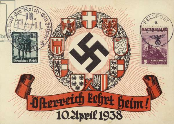 Anschluss, 10 April 1938 (colour litho)