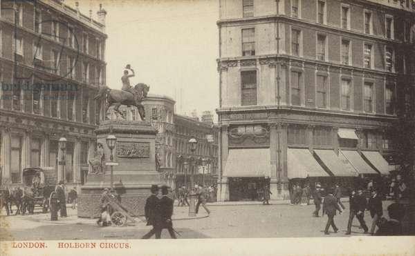 Holborn Circus, London (b/w photo)