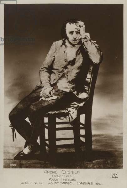 Andre Chenier, French poet (litho)