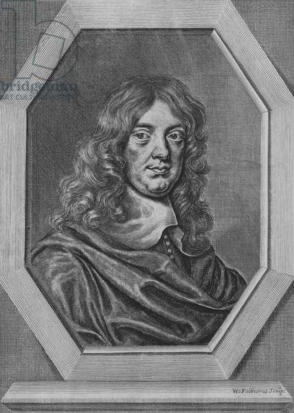 Abraham Cowley, English poet (engraving)