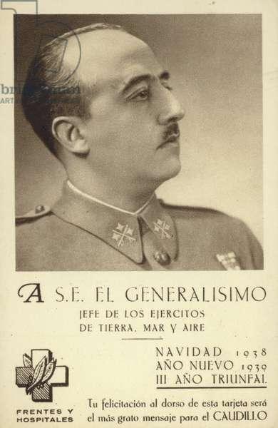 Francisco Franco, Spanish general and dictator (b/w photo)