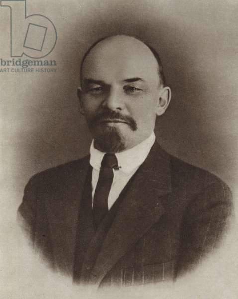 Lenin, Zurich, Switzerland, 1917 (b/w photo)