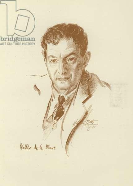 Walter de la Mare, English poet, short story writer and novelist (litho)