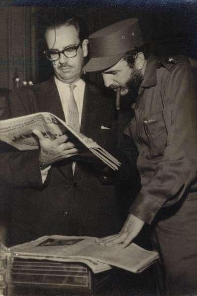 Fidel Castro (b/w photo)