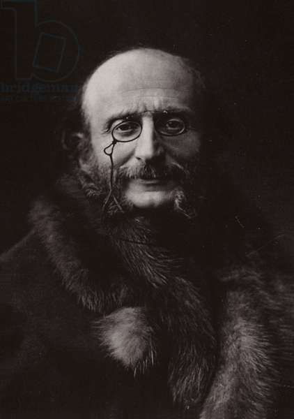 Portrait of Jacques Offenbach (b/w photo)