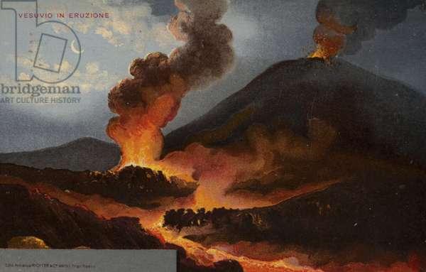 Postcard depicting Mount Vesuvius (colour litho)