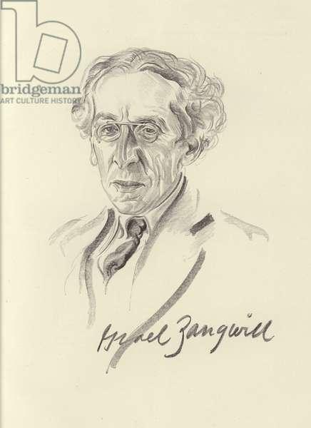 Israel Zangwill, English author (litho)