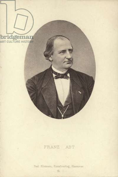 Franz Abt, German compsoer and choral conductor (1819-1885) (b/w photo)