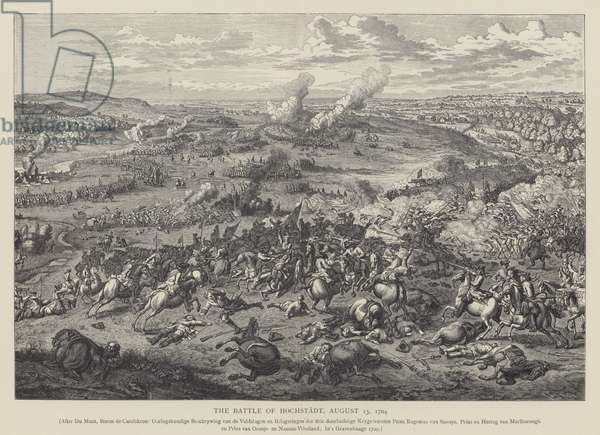 The Battle of Hochstadt (Blenheim), 13 August 1704 (litho)
