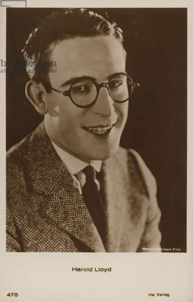 Harold Lloyd (b/w photo)