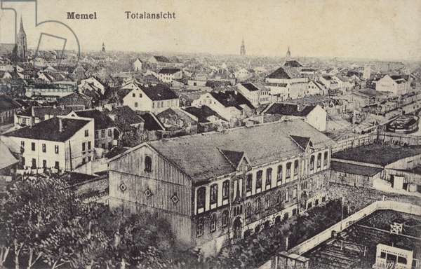 Panoramic view of Memel, Germany, late 19th or early 20th Century (b/w photo)