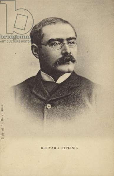 Rudyard Kipling (1865-1936), English short story writer, poet and novelist (b/w photo)