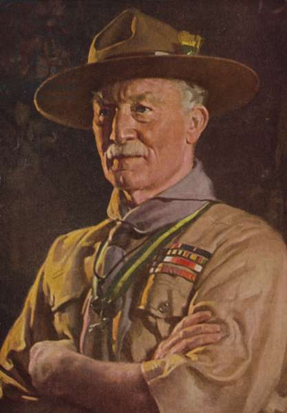 Robert Baden-Powell (colour litho)