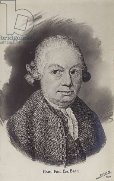 Carl Philipp Emanuel Bach, German Classical period musician and composer (1714-1788) (engraving)