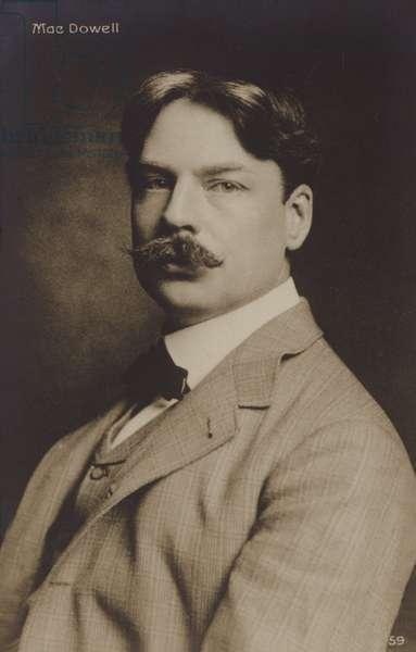 Portrait of Edward MacDowell (b/w photo)
