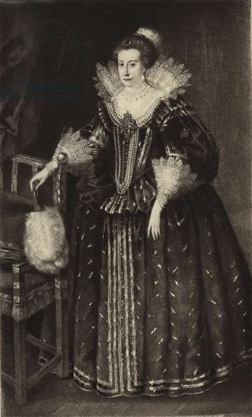 Anne of Denmark, Queen consort to King James I (litho)