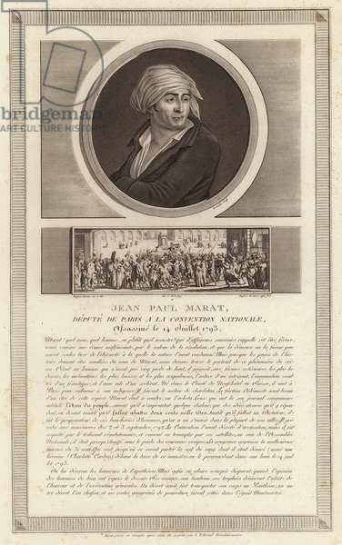 Portrait of Jean-Paul Marat (engraving)