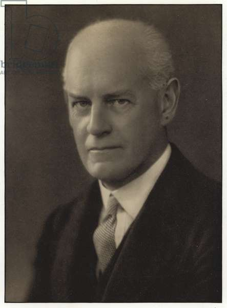 John Galsworthy, English novelist (b/w photo)