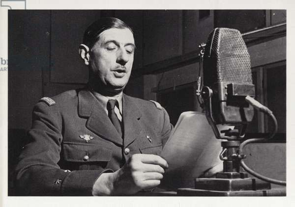 Charles de Gaulle (b/w photo)