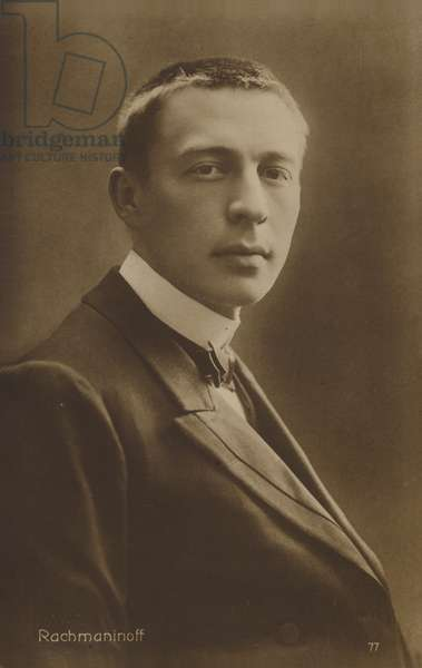 Portrait of Sergei Rachmaninoff (b/w photo)