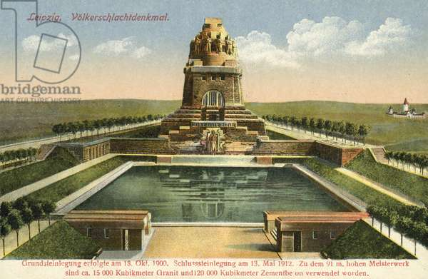 Monument to the Battle of the Nations, Leipzig (colour photo)