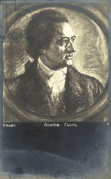 Johann Wolfgang von Goethe, German poet, novelist and playwright. (litho)