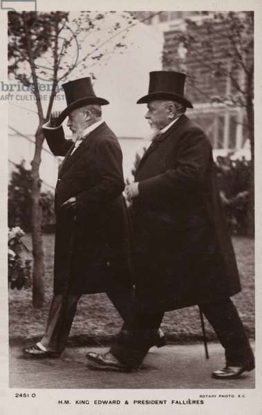 Edward VII and Armand Fallieres (b/w photo)