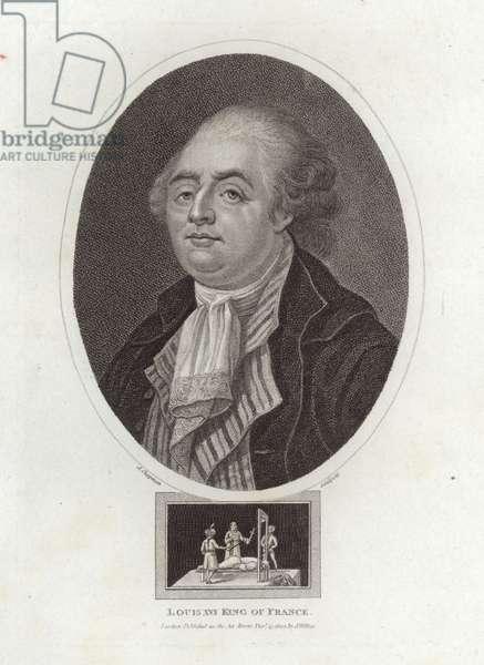 Louis XVI King of France (engraving)