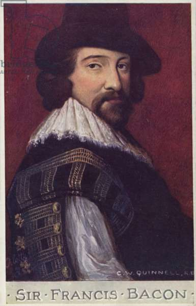 Sir Francis Bacon (1561-1626), English philosopher and author (colour litho)