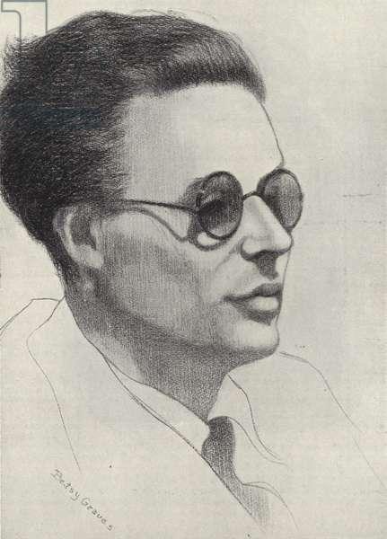 Aldous Huxley, English writer (litho)