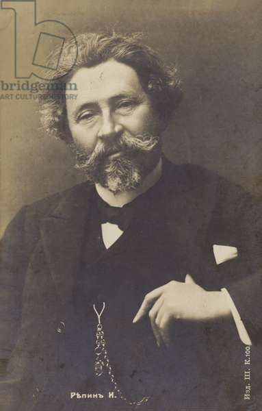 Ilya Repin, Russian painter, early 20th Century (b/w photo)