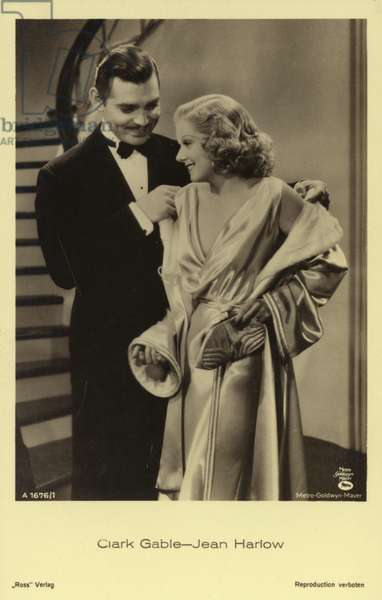 Clark Gable-Jean Harlow (b/w photo)