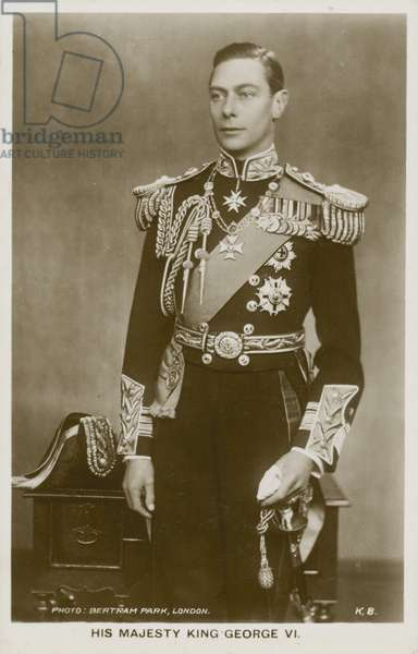 King George VI (b/w photo)