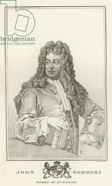 John Sommers, Baron of Evesham (engraving)