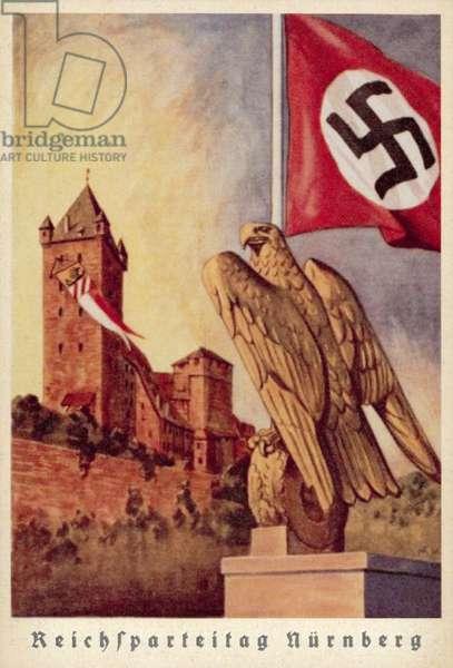 Nuremberg Rally, 1939 (colour litho)