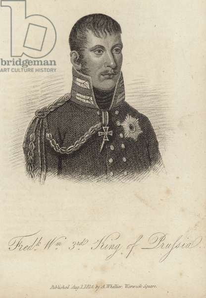King Frederick William III of Prussia (engraving)