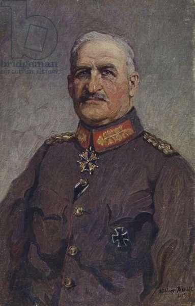 Alexander von Linsingen, German general (colour litho)