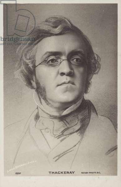 William Makepeace Thackeray (1811-1863), English novelist (litho)