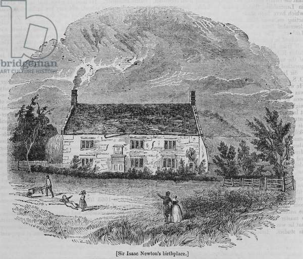 Sir Isaac Newton's birthplace (engraving)