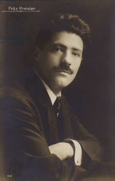 Portrait of Fritz Kreisler (b/w photo)