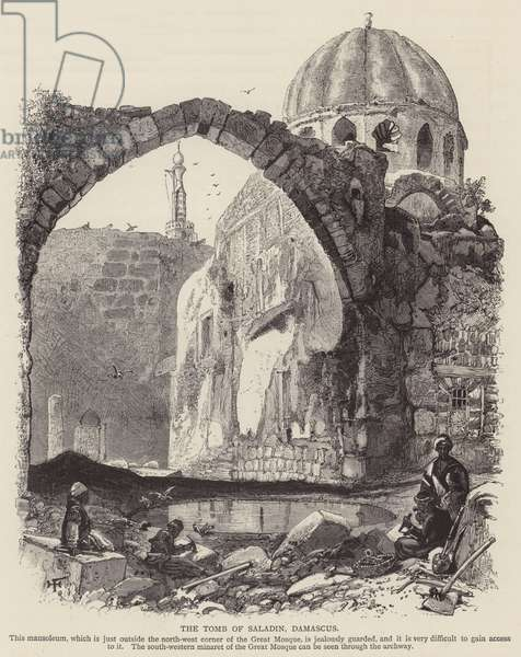 The Tomb of Saladin, Damascus (engraving)