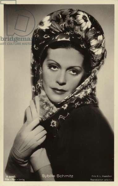 Sybille Schmitz (b/w photo)