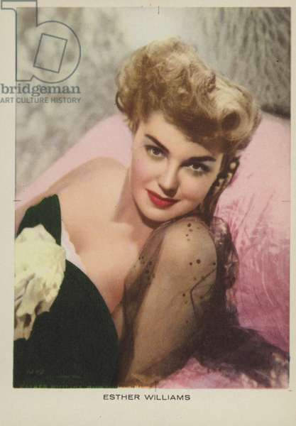 Esther Williams, American actress and film star (coloured photo)