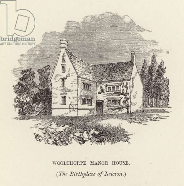 Birthplace of Sir Isaac Newton (engraving)