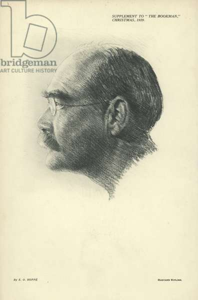 Portrait of Rudyard Kipling (engraving)