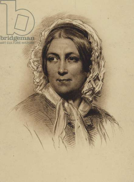 Harriet Martineau, English social theorist and writer (litho)