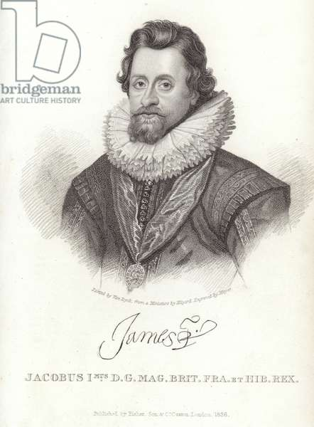 Portrait of James I of England and Ireland (engraving)