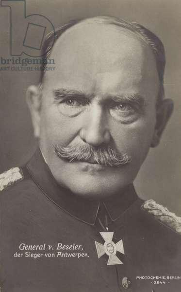 General von Beseler (b/w photo)