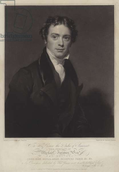 Michael Faraday, English physicist and chemist (litho)